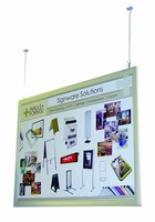 Display System features front-loading graphic frame system.