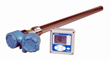 Oxygen Analyzer measures residual oxygen in flue gases.
