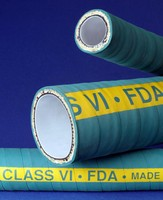 FEP Hose comes with USP Class VI-approved core.