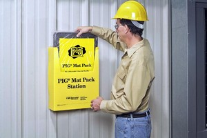 Mat Pack Station offers access to liquid absorbent mat pads.