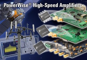 New High-Speed Amplifiers from National Semiconductor's PowerWise Line of Energy-Efficient Products Provide the Industry's Highest Performance at the Lowest Power