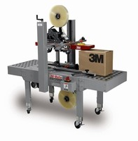Case Sealer handles wide range of case heights and sizes.