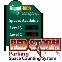 Parking Equipment counts number of vehicles entering/exiting.