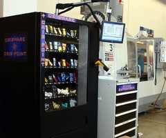 Industrial Vending Equipment features color touchscreen.