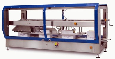 Case Sealer runs both tape and hot melt adhesive.
