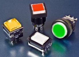 Illuminated Switches suit light industrial applications.