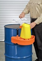 Filling Shelf lets user transfer fluids from storage drums.