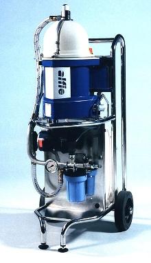 Portable Centrifuge cleans industrial fluids.
