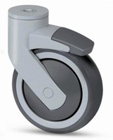 Design Casters have 5 in. wheel size. .