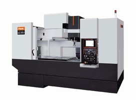 Vertical Machining Center features 50-taper spindle.