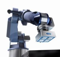 Magnetic Gripper handles ferromagnetic workpieces.