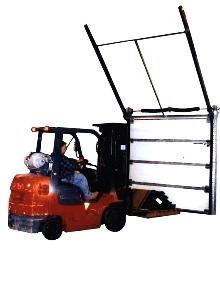 Door Track handles 12/12 roof pitch.