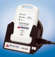 Data and Temperature Logger is programmable and splash proof.