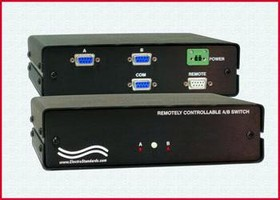A/B Switch features manual and remote control.