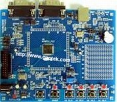 Evaluation Board is based on ARM7 core microcontroller.