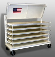 Portable Storage Racks hold up to 2,000 lb.