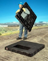 Transformer Pad is made from 100% recycled HDPE.