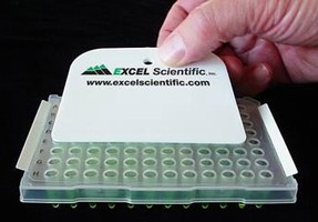 Film had strong adhesive for PCR sealing and storage.