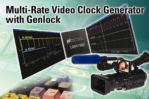 Clock Generator exhibits low jitter in broadcast equipment.