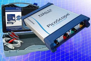 USB-Powered Oscilloscope measures signals with offsets.