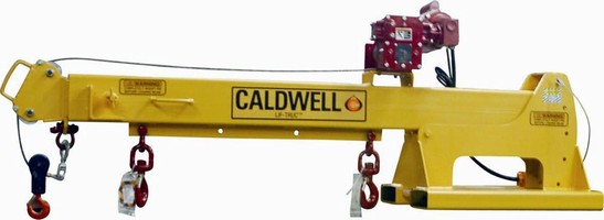 Winch Boom adds gantry crane functionality to fork lifts.