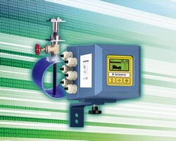 Flow Meter measures large industrial/wastewater line size flows.