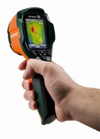 IR Camera detects thermal condition of electrical components.