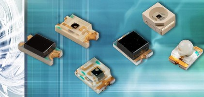 Phototransistors come in miniature surface mount packages.