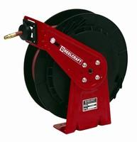 Hose Reel accommodates 65 ft of hose.
