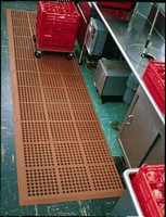 Rubber Mat has slip-resistant surface.