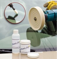 Windshield Repair Kit safely removes pits and scratches.
