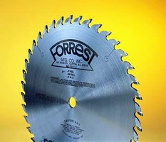 Carbide Blades cut solid surface materials.