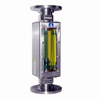 Flanged Rotameter has polycarbonate safety shields.