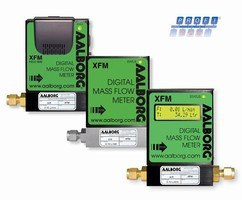 Thermal Mass Flow Meter offers optional Profibus interface.