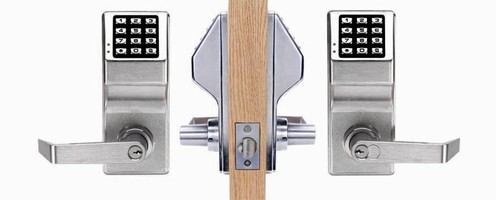 Double-Sided Lock features LED and audible entry indicators.