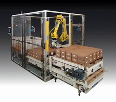 Robotic System can palletize 2 pallets from 1 station.
