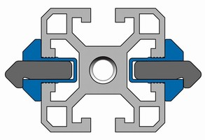 Clamp Extrusion requires no track drilling or fasteners.