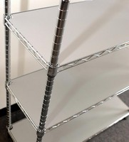 Wire Shelf Liners are constructed from 1/8 in. thick PVC.