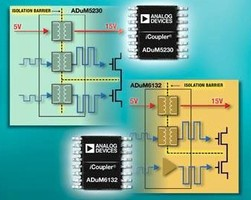 Isolated Gate Drivers have integrated isolated power supply.