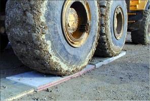 Construction Mats are made from fiber reinforced polymer.