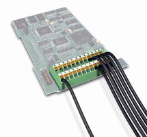 PCB Terminal Block features compact, low profile design.