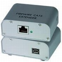 FireWire Extender uses CAT6 and CAT5e cable.