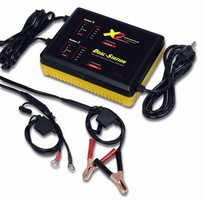 Battery Charger has dual-station design.
