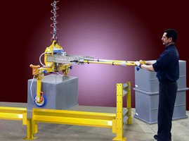 Side Grip Vacuum Lifter is designed for stacking large items.