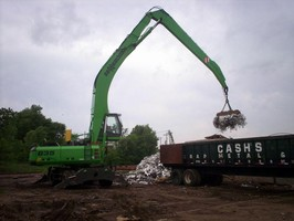 Cash's Scrap Metal & Iron River Terminal Relies on Sennebogen 835 M to Deal with Highs and Lows on the Mississippi River