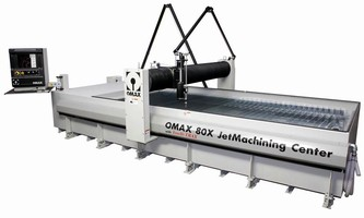 Waterjet System suits large scale precision machining.
