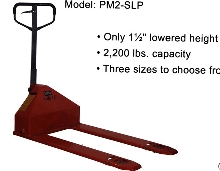 Pallet Truck has super low-profile.