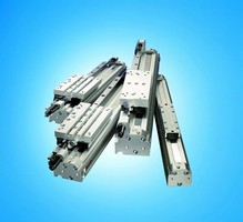 Rodless Pneumatic Cylinders feature space-saving design.
