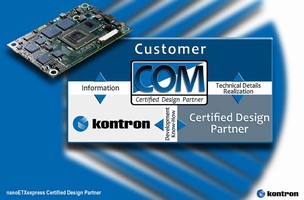 Kontron Certified Design Partners, Diamond Point, b-plus, ACCES I/O and Microteam Announce Support and Planned Development Based on nanoETXexpress Computer-on-Module Specification
