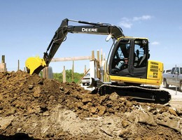 Excavator is suited for site development and landscaping.